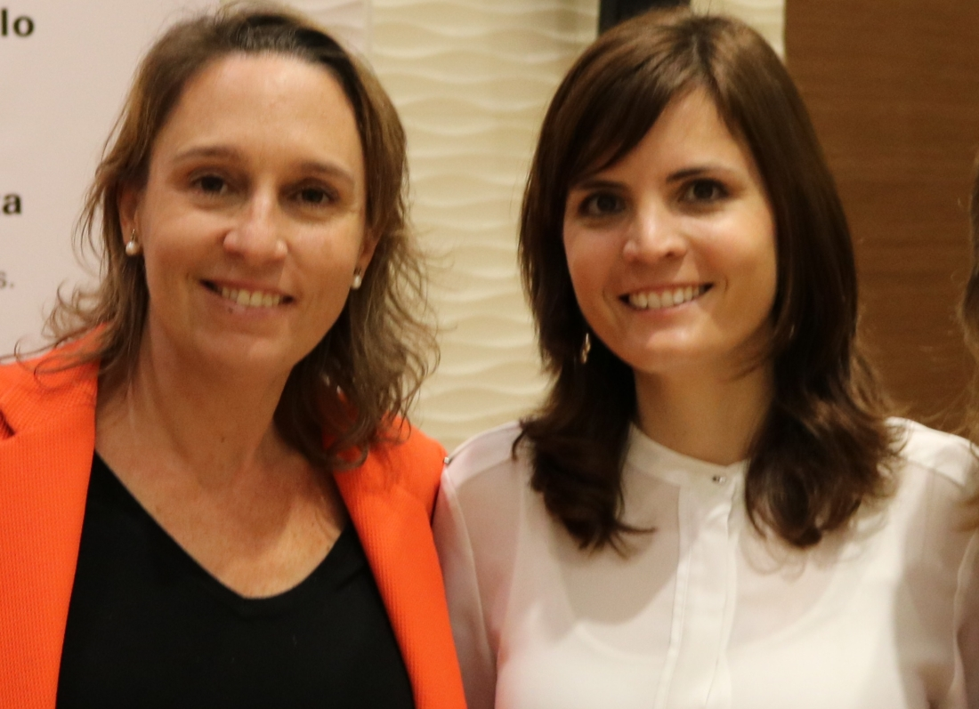 Bárbara Hernández junto a Cristina Jover. Pc Componentes